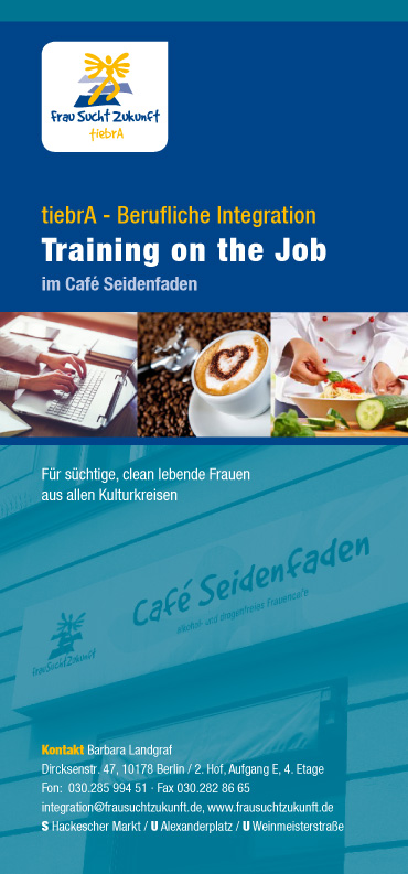 tiebrA - Berufliche Integration, Training on the Job im Café Seidenfaden